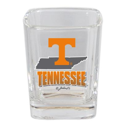 Tennessee 2 oz State Map and Mascot Shot Glass