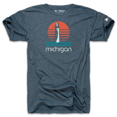 Mitten Michigan Lighthouse Short Sleeve Tee