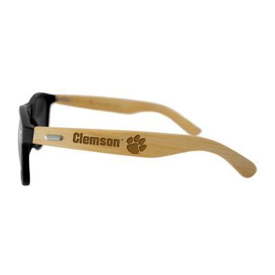 Clemson Unisex Bamboo Sunglasses