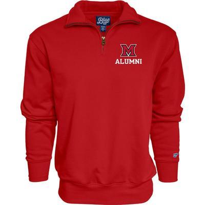 Miami Blue 84 Alumni 1/4 Zip Pullover RED