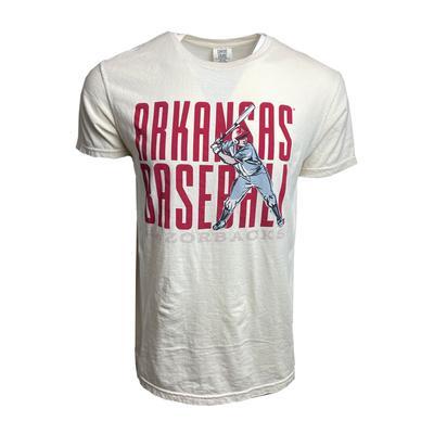 Arkansas Baseball Stack Comfort Colors Short Sleeve Tee