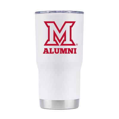 Miami 20 oz Alumni White Tumbler