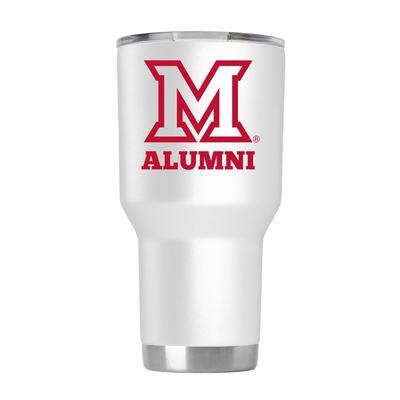 Miami 30 oz Alumni White Tumbler