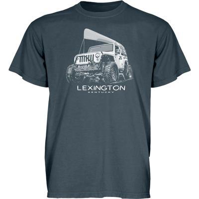 Blue 84 Lexington Wheeled Jeep Short Sleeve Tee