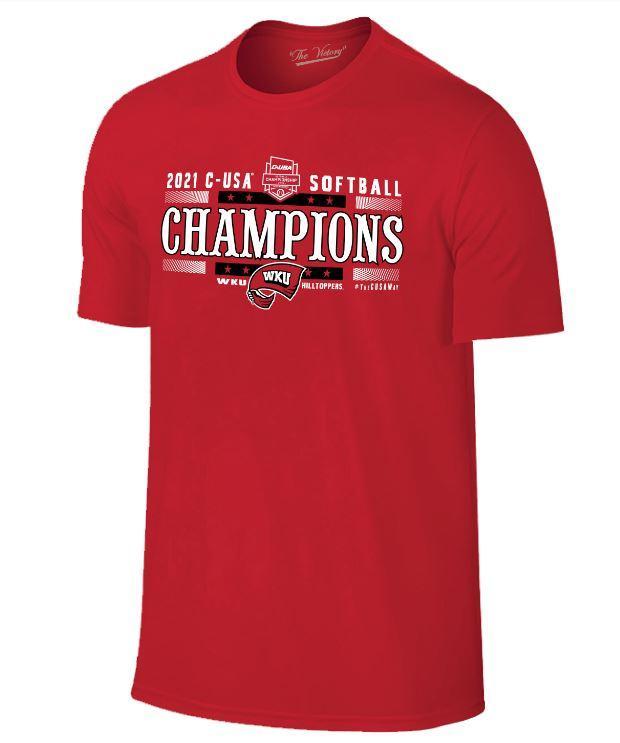 Western Kentucky 2021 Cusa Softball Tournament Champions Tee
