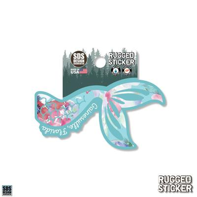 Seasons Design Gainesville Floral Mermaid Tail 3.25
