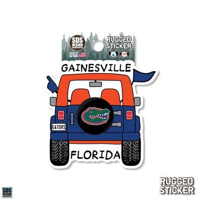 Florida Seasons Design Cartoon Jeep 3.25