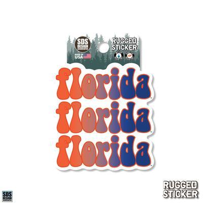 Florida Seasons Design Retro Fade School 3.25