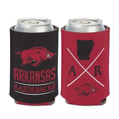 Arkansas 12 oz Hipster Can Cooler