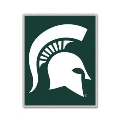 Michigan State Square Spartan Head Collector Pin
