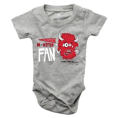 Western Kentucky Infant Monster Fan Onesie