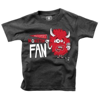 Western Kentucky Toddler Monster Fan Short Sleeve Tee