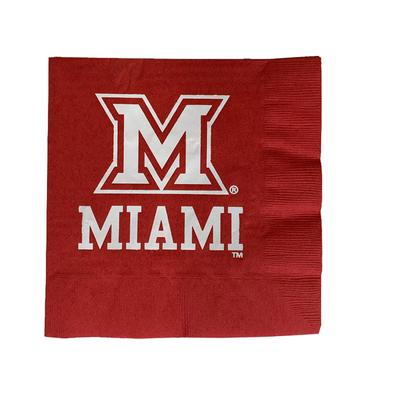 Miami M Logo Lunch Napkins