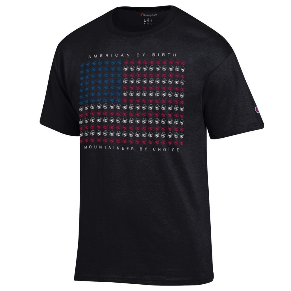 Appalachian State Champion Mini Logo American Flag Tee