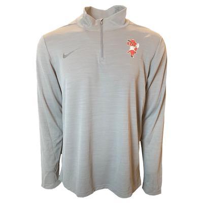 Arkansas Nike Men's Pitching Ribby Intensity 1/4 Zip Pullover