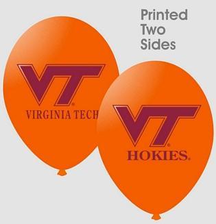 Virginia Tech 10 ct. Latex Balloons