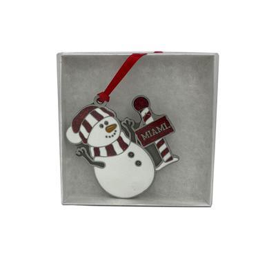 Miami Snowman Ornament