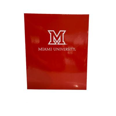 Miami Glossy Imprinted M Logo Folder