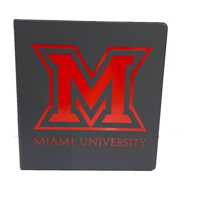 Miami 1.5 Imprinted M Logo Binder
