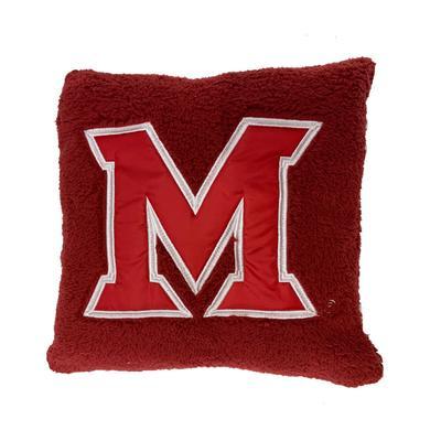 Miami Sherpa M Logo Pillow