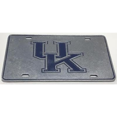 Kentucky UK Logo Pewter License Plate
