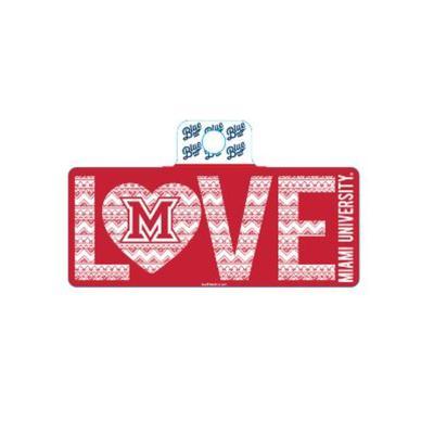 Miami Blue 84 M Love Sticker