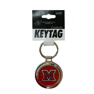 Miami M Logo Key Chain