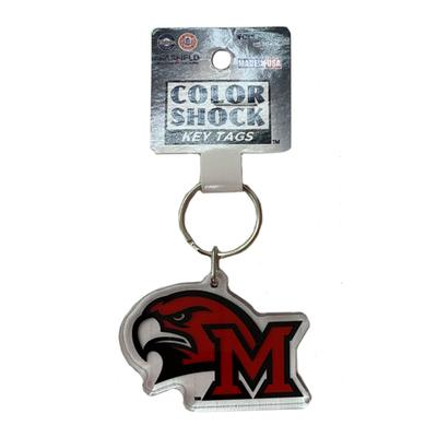 Miami M with Hawkhead Logo Key Chain