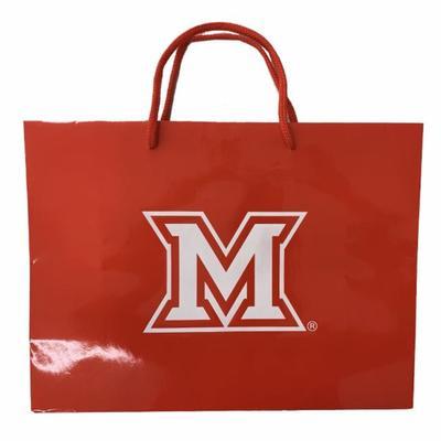 Miami M Logo Large Gift Bag
