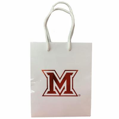 Miami M Logo Small Gift Bag