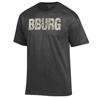 Blacksburg Champion Men's Town Map Lettering Tee Shirt