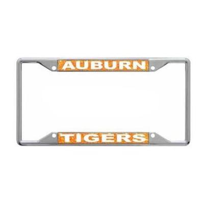 Auburn Glitter License Plate Frame