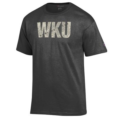 Western Kentucky Champion Town Map Lettering Tee