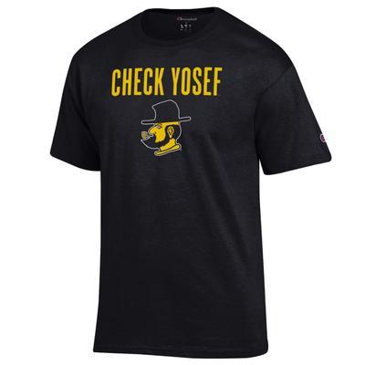 Appalachian State Champion Check Yosef Tee