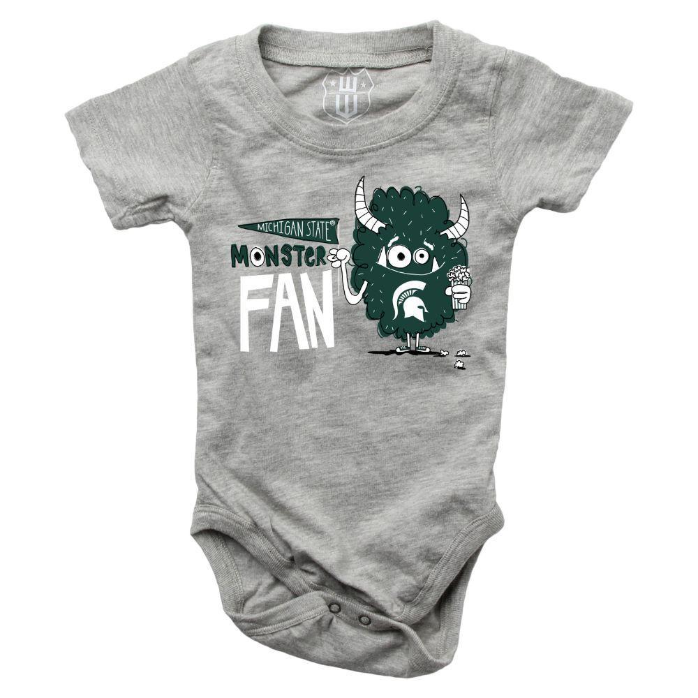 Michigan State Infant Monster Fan Onesie