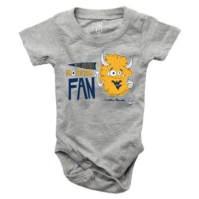 West Virginia Infant Monster Fan Onesie