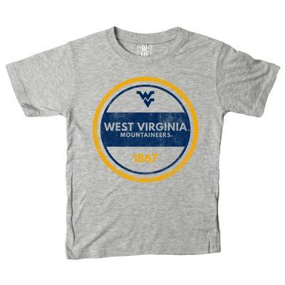West Virginia Kids Circle Short Sleeve Tee