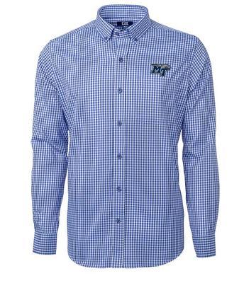 MTSU Cutter and Buck Men's Versatech Multi Check Dress Shirt