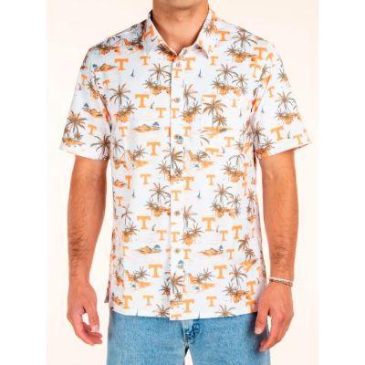 Tennessee Tellum And Chop Tiki Print Hawaiian Shirt