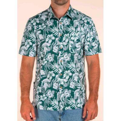 Michigan State Tellum And Chop Floral Print Hawaiian Shirt