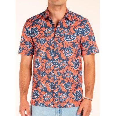 Auburn Tellum And Chop Floral Print Hawaiian Shirt