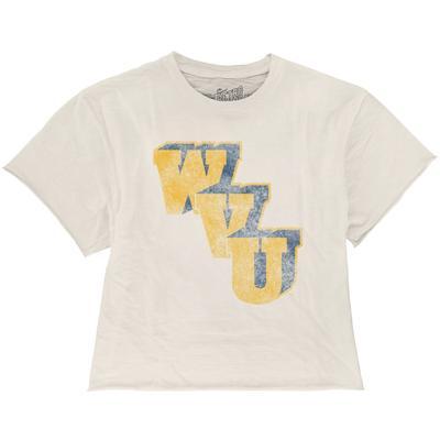 West Virginia Vault WVU Boyfriend Crop Tee