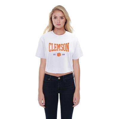 Clemson Summit Boyfriend Est Date Squeeze Crop Top