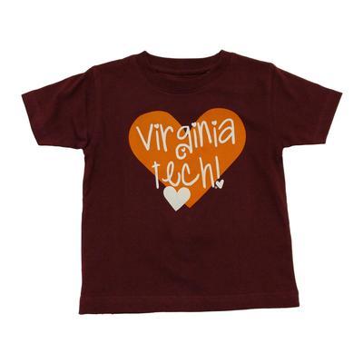 Virginia Tech Toddler Girls Hearts T-Shirt