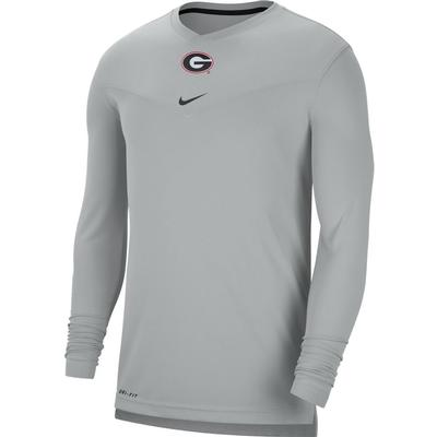 Georgia Nike Men's UV Coach's Long Sleeve Tee