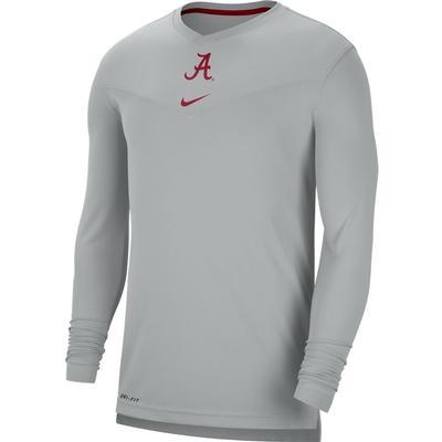 Alabama Nike Men's UV Coach's Long Sleeve Tee