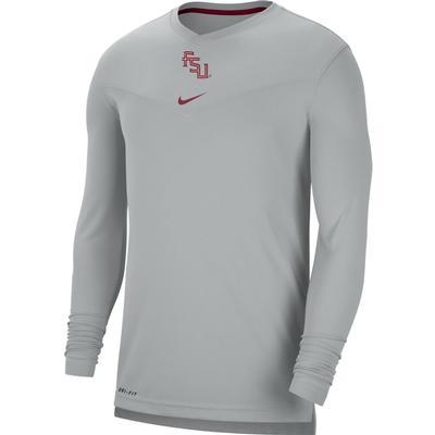 Florida State Nike Men's UV Coach's Long Sleeve Tee