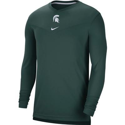 Michigan State Nike Men's UV Coach's Long Sleeve Tee