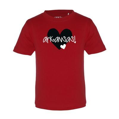 Arkansas Garb Toddler Hearts Short Sleeve Tee