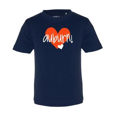 Auburn Garb Toddler Hearts Short Sleeve Tee